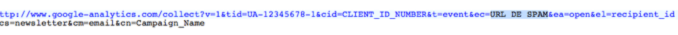 Google Analytics pixel-tracking-UA