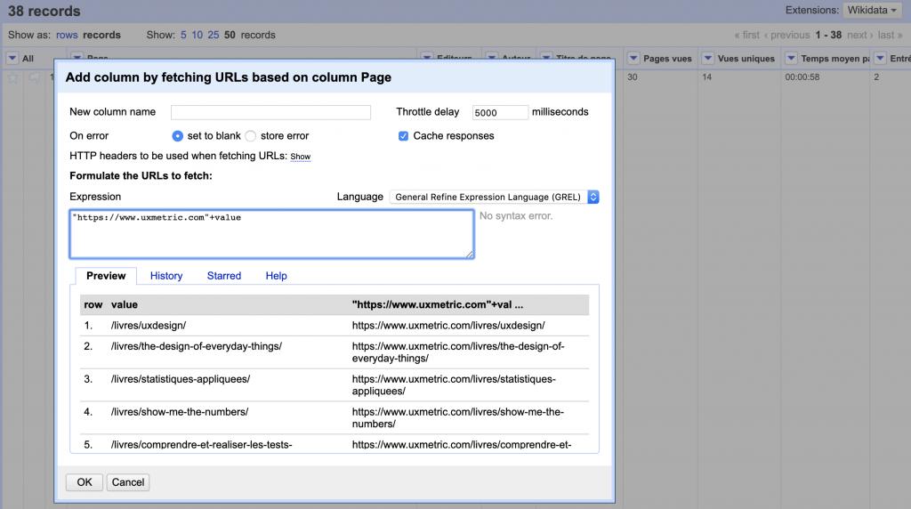 Analyse de données - Open Refine - Data marketing - UX Metric